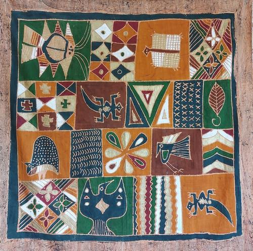 vintage tribal batik fabric wall hanging/ cloth at emprades vintage + design