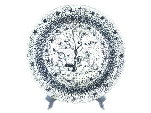 Vintage Nymolle Bjorn Wiinblad The Seasons Winter Platter