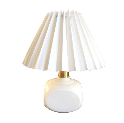 Vintage Table Lamp Le Klint 312 in White with Danish pleated shade
