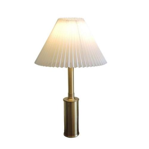 Vintage Brass Telescopic Table Lamp Le Klint 344 Gunnar Billmann Petersen Danish pleated shade