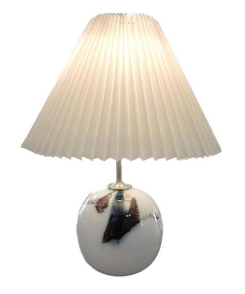Vintage Holmegaard 'Sakura' Art Glass Table Lamp