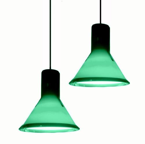 Pair of Holmegaard P&T Mini Pendant lights