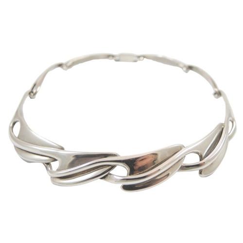 Vintage Mexican Erika Hult De Corral Sterling Silver Collar Necklace