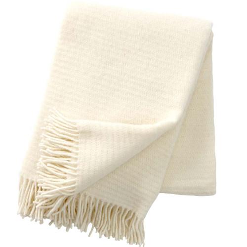 Brand New Klippan 100% Eco Lambs Wool Ralph Ivory Blanket 130cm x 200cm