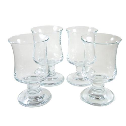 4 Vintage Holmegaard Ships Beer Wine Glasses Per Lutkin c1980