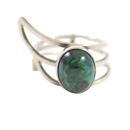 Vintage Export Israeli Sterling Silver Eilat Modernist Ring