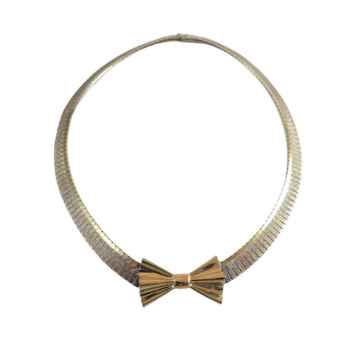 Vintage Italian Sterling Silver Collar Necklace