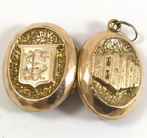 Antique Rolled Gold Filled Regard Locket