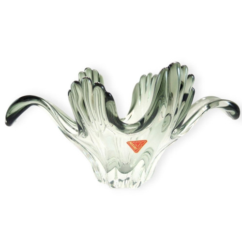 Vintage Murano Sculptural Display Bowl by Ferro & Lazzarini
