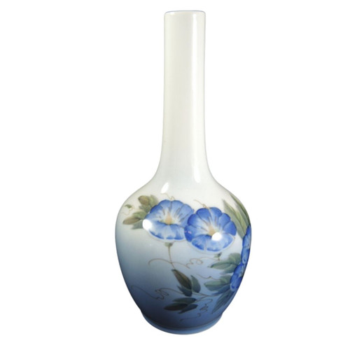 Vintage Royal Copenhagen Hand Painted Morning Glory Vase