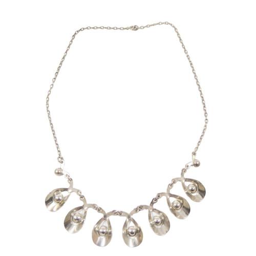 Vintage Danish Sterling Silver Necklace Hermann Siersbol