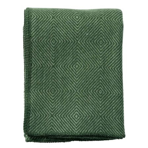 Brand New Klippan Nova Green Lambs Wool Throw 200cm x 130cm