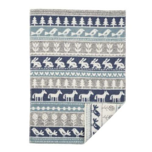 Brand New Klippan Eco Lambs Wool Baby Blanket Nature