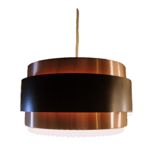 Vintage Mid Century Modern Danish Vitrika Jo Hammerborg Style Pendant Light