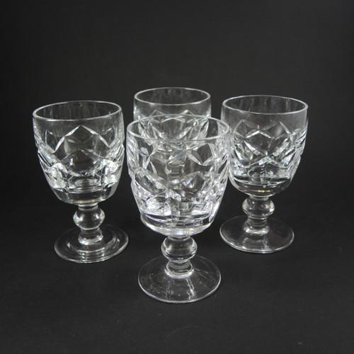 4 Vintage Waterford Crystal Kerry Port Wine Glasses