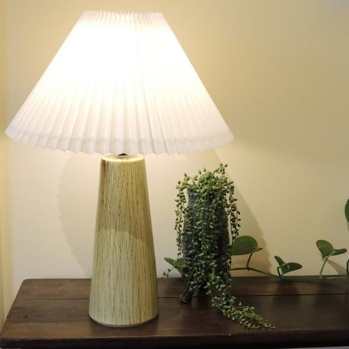 56cm Tall Vintage Mid-Century Sgraffito Stoneware Lamp Denmark