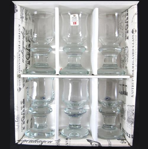 6 Vintage Holmegaard Tivoli liqueur glasses Per Lutken 1968 Boxed