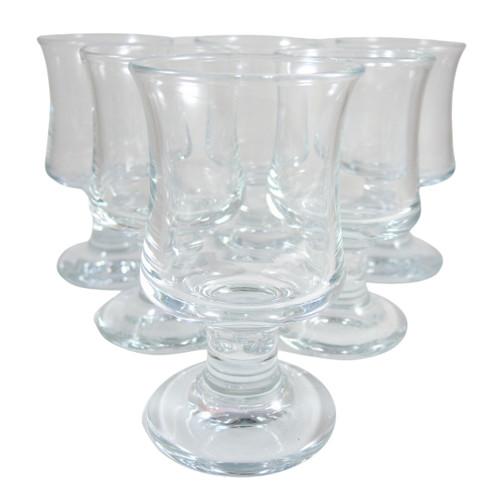 6 Vintage Holmegaard Ships White Wine Glasses Per Lutken