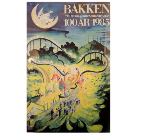 Vintage Danish Bakken Poster 1985