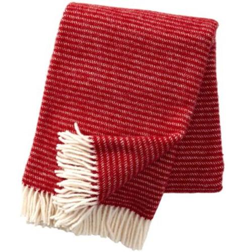 Brand New Klippan 100% Eco Lambs Wool Red Ralph Blanket 130cm x 200cm
