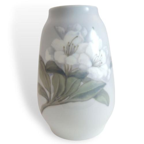 Antique Royal Copenhagen Porcelain Vase Pre 1923 with Rhododendron Blooms 846 1224