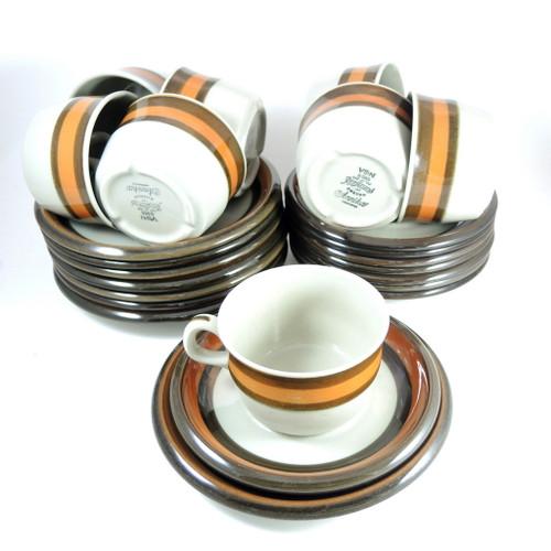 8 Vintage Rorstrand Annika Cups, Saucers & Plates Trios