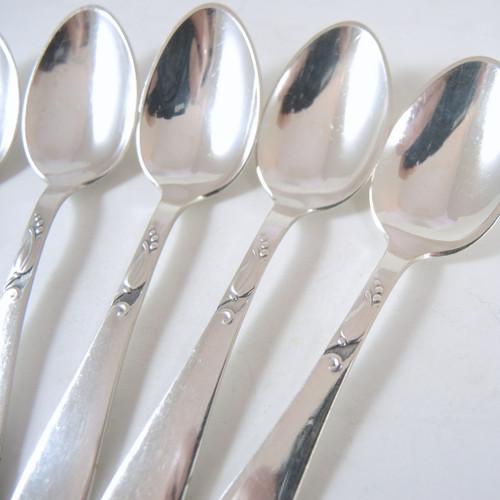 8 Vintage Danish Silver Plate Teaspoon Set Lilymore A. Prip