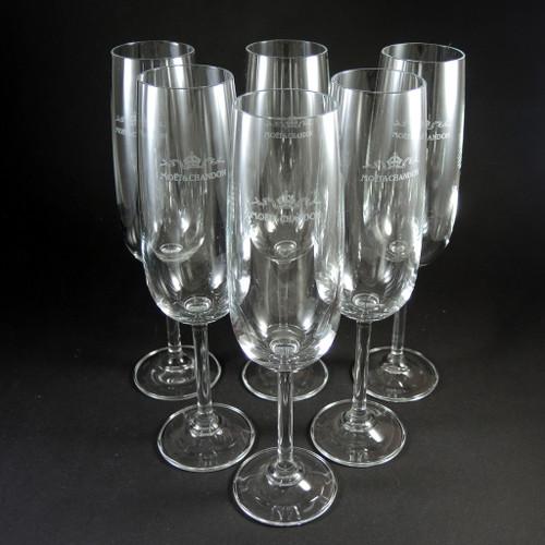 6 Vintage Moet & Chandon Champagne Glasses Czechoslovakia