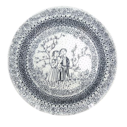 Vintage Nymolle Bjorn Wiinblad The Seasons Spring Platter