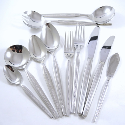 6 person Wiltshire Stainless Steel Vogue Cutlery Set Stuart Devlin 47pce