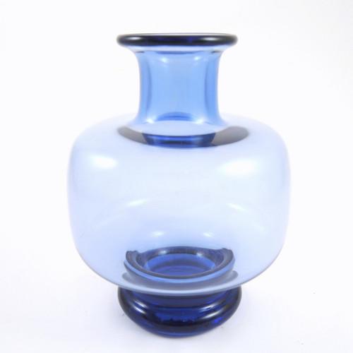 Holmegaard Safir Vase Mid Century Modern Danish Art Glass 1955