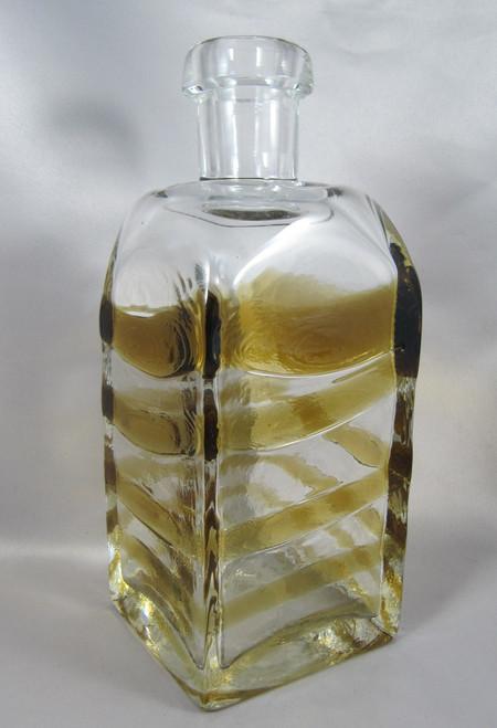 Vintage Bengt Orup for Johansfors Sweden Art glass bottle