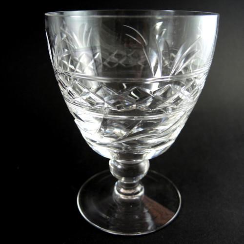6 Large Vintage Stuart Crystal Imperial Water or Red Wine glasses