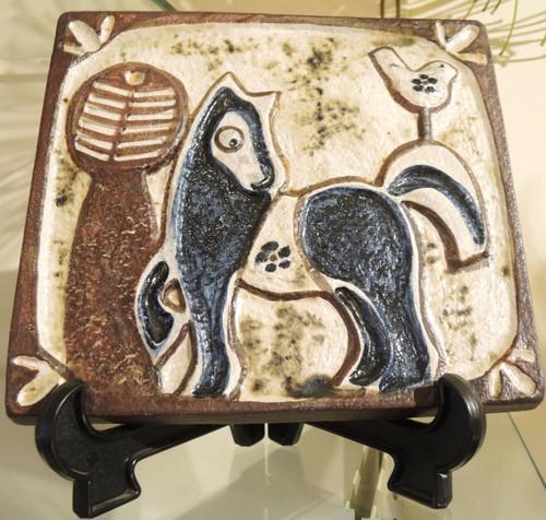 Danish Mid Century Modern Art Pottery Soholm Pony or Horse Wall Plaque