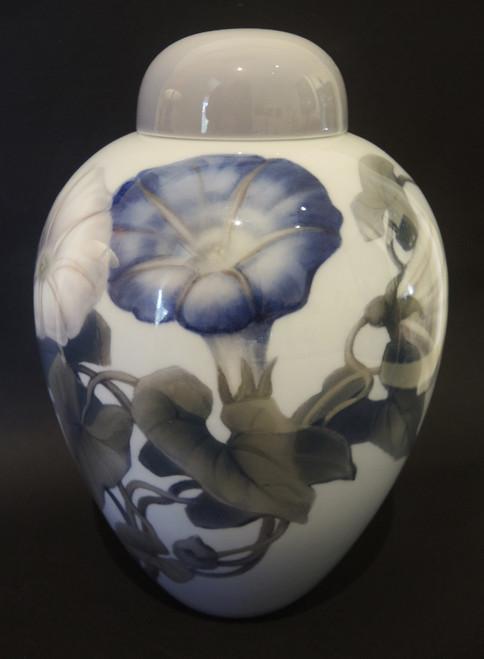 1920's Art Nouveau Danish Bing & Grondahl Morning Glory Lidded Jar