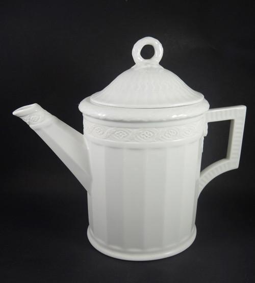 1943 Vintage Royal Copenhagen White Fan Coffee Pot