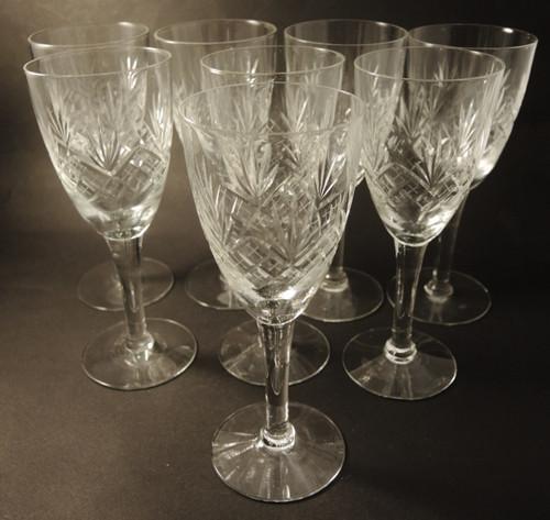 8 Vintage Holmegaard Else Red Wine glasses 1919