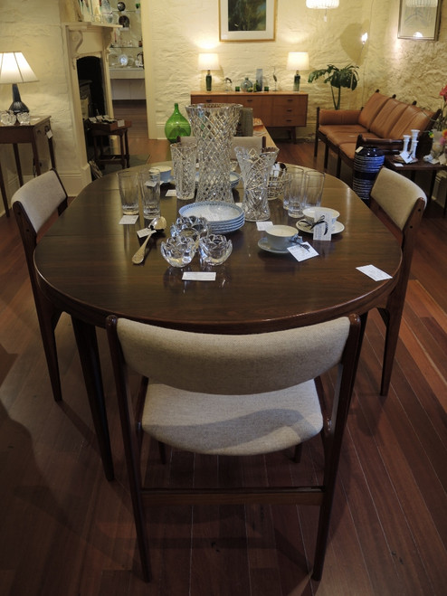 Vintage Danish Rosewood Kai Christensen Extension Table