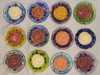 Custom Glass Soap Dishes -  with Rose Round Soaps - from soladerasoaps.com