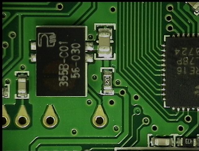PCB Prior to Selective Solder Mask Removal