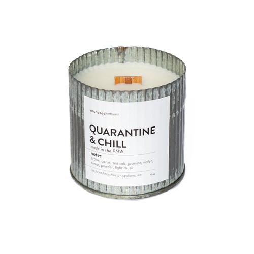 Quarantine & Chill Rustic Vintage Candle