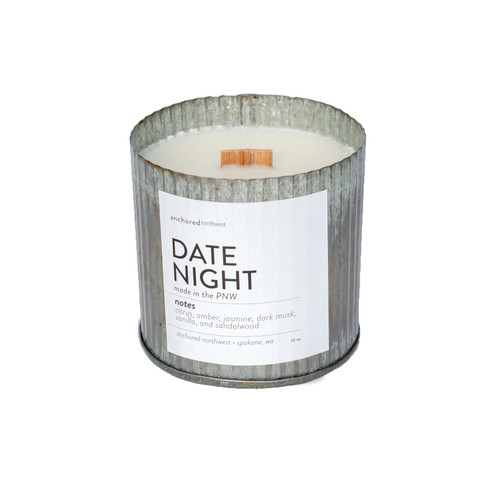 Date Night Rustic Vintage Candle