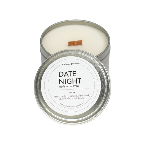 Date Night Silver Travel Tin