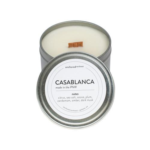 Casablanca Silver Travel Tin Candle