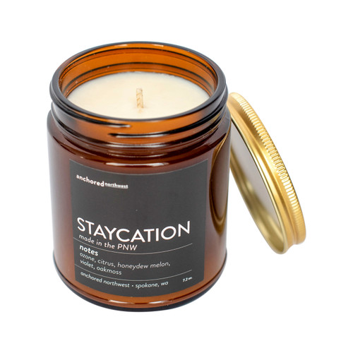 Staycation - Amber Tumbler w/ Cotton Wick