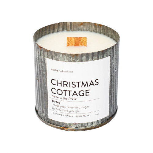 Christmas Cottage Rustic Vintage Candle