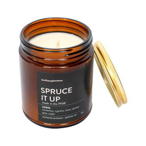 Spruce it up Amber Tumbler Candle