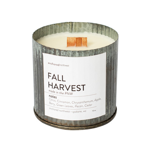 Fall Harvest Rustic Vintage Candle