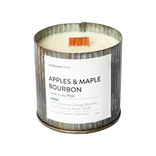 Apples & Maple Bourbon Rustic Vintage Candle