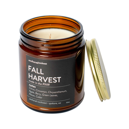 Fall Harvest Amber Tumbler Candle